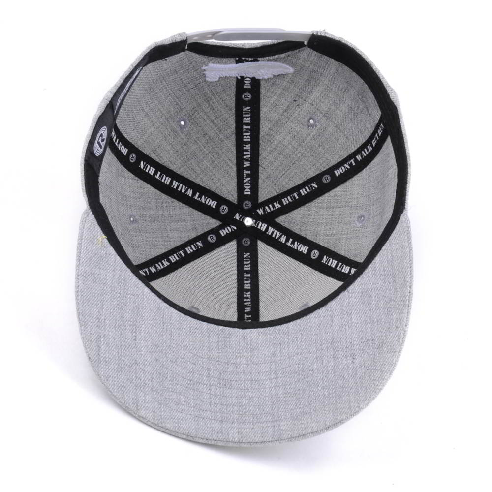 3d embroidery gray acrylic wool snapback hats custom