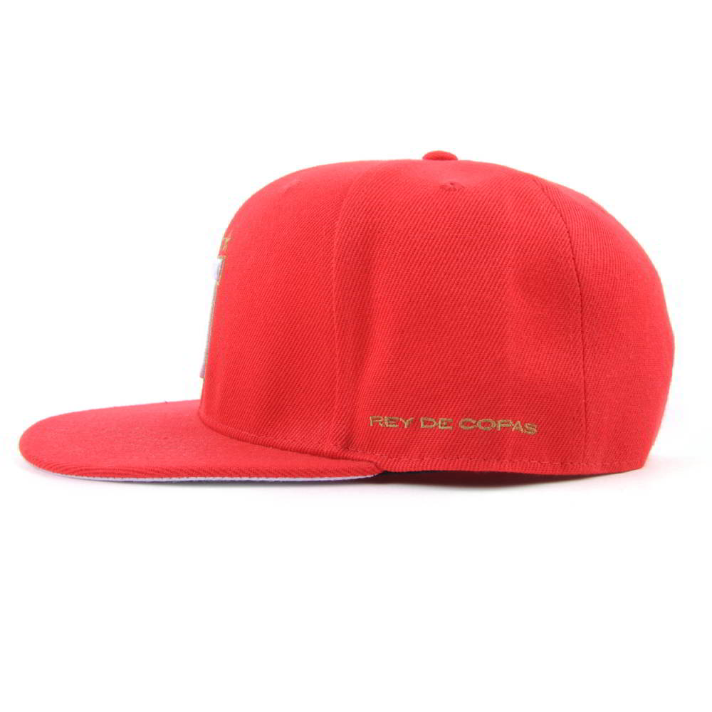 3d embroidery red flat brim snapback caps