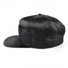 5 panels black satin 3d embroidery snapback hats