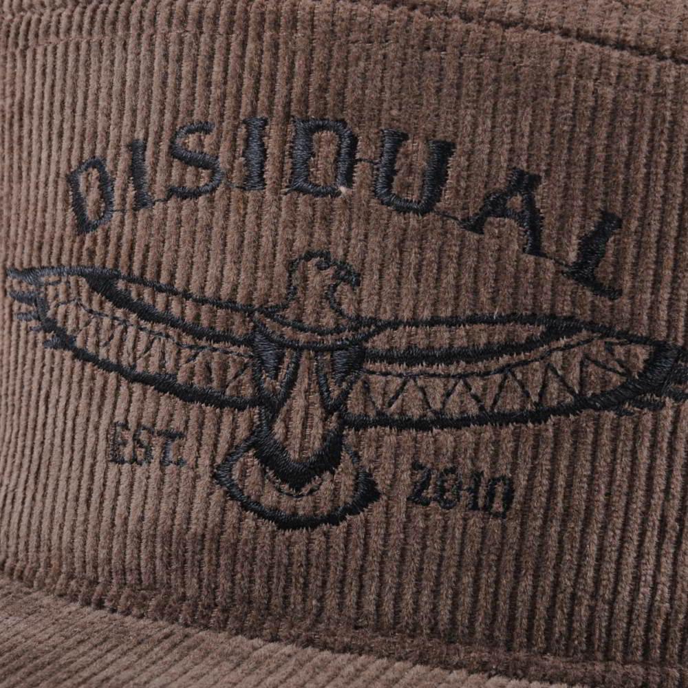 7 panels flat embroidery corduroy snapback caps