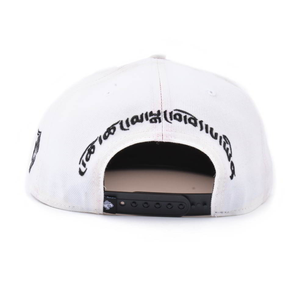 black leather brim flat embroidery snapback caps