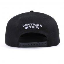 design 3d embroidery black snapback caps
