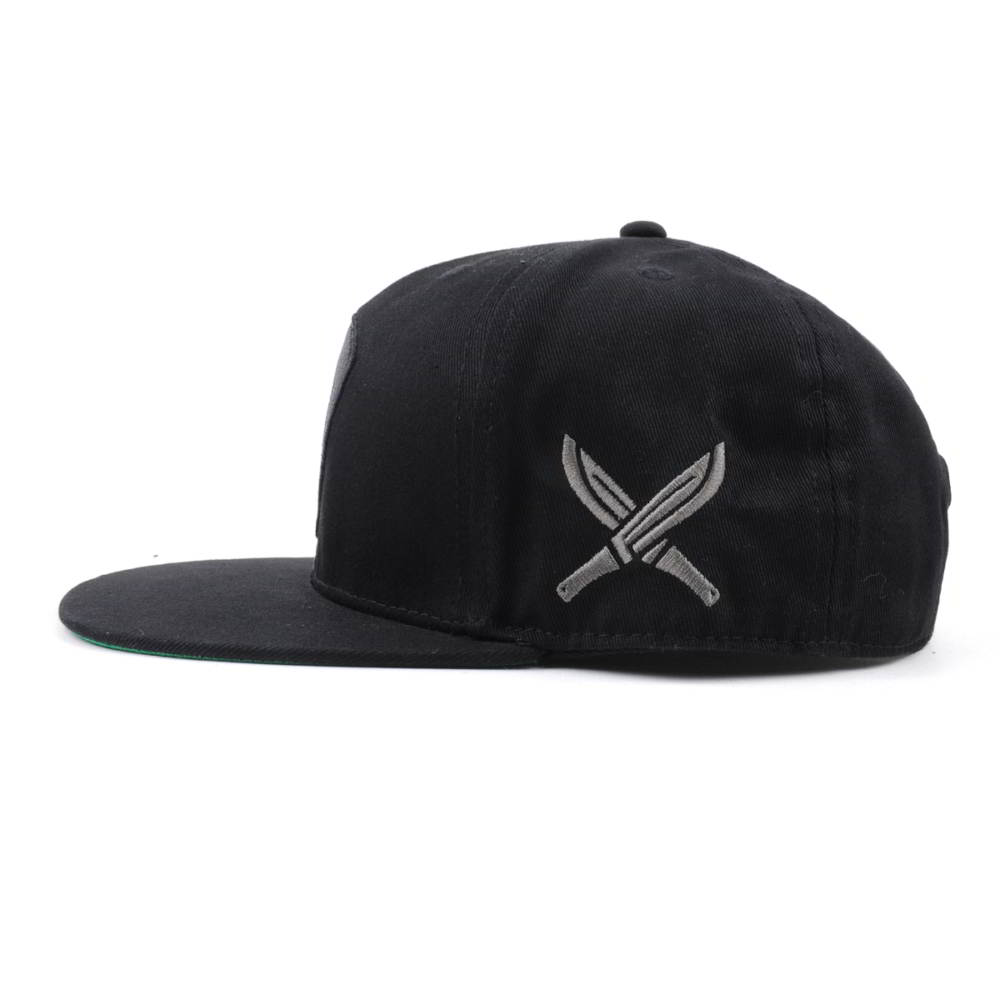 flat embroidery black snapback hats on sales