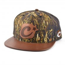 leather patch and brim printing snapback hats