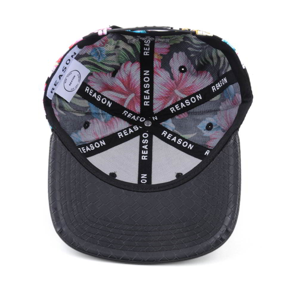 printing logo leather brim snapback hats custom