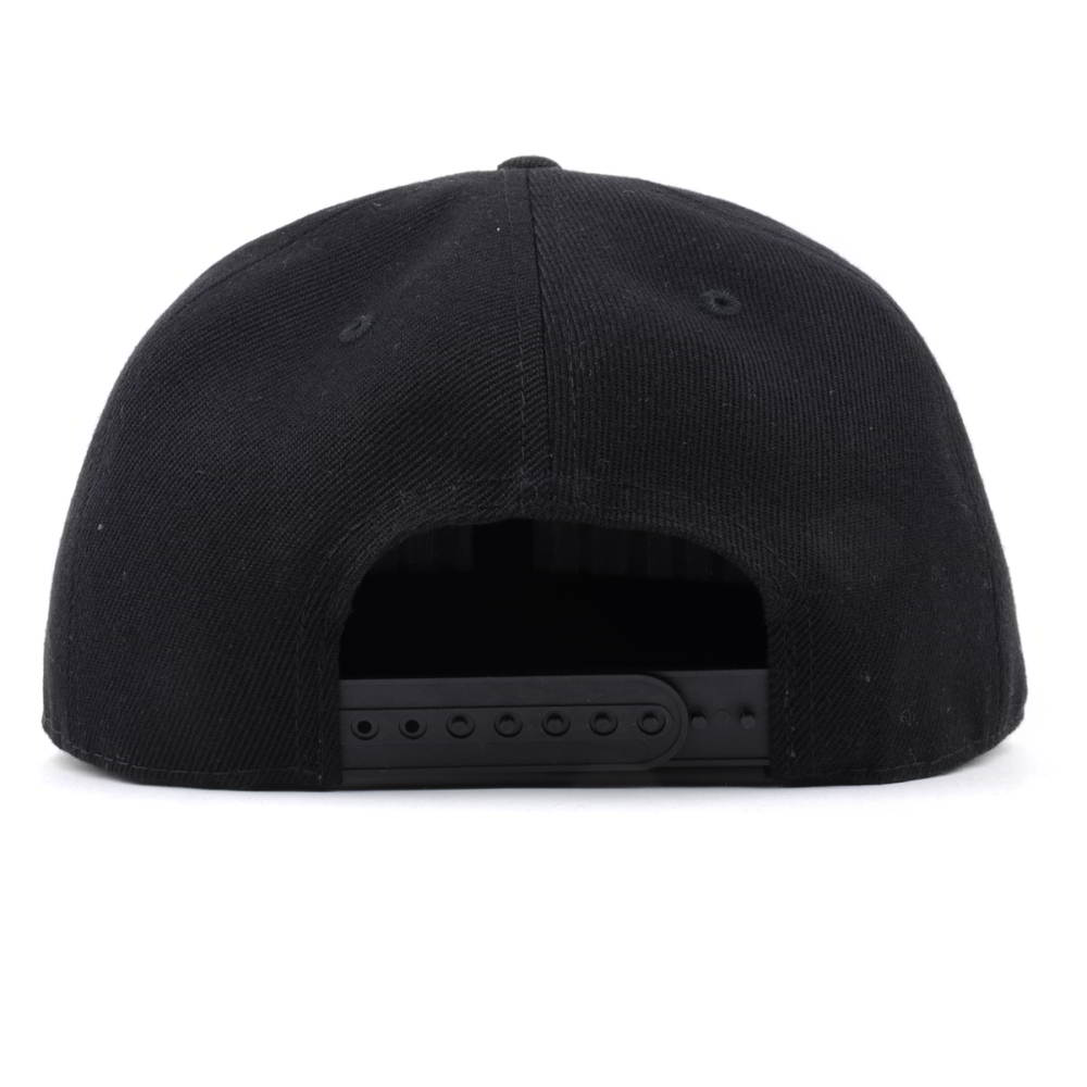 puff embroidery black snapback caps flat hats