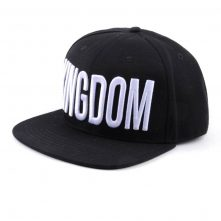 puff embroidery black snapback caps flat hats