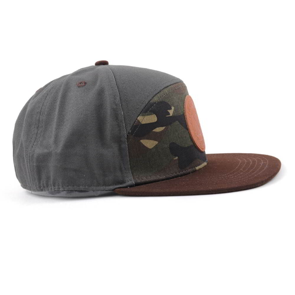 special 6 panels camo leather patch snapback hats