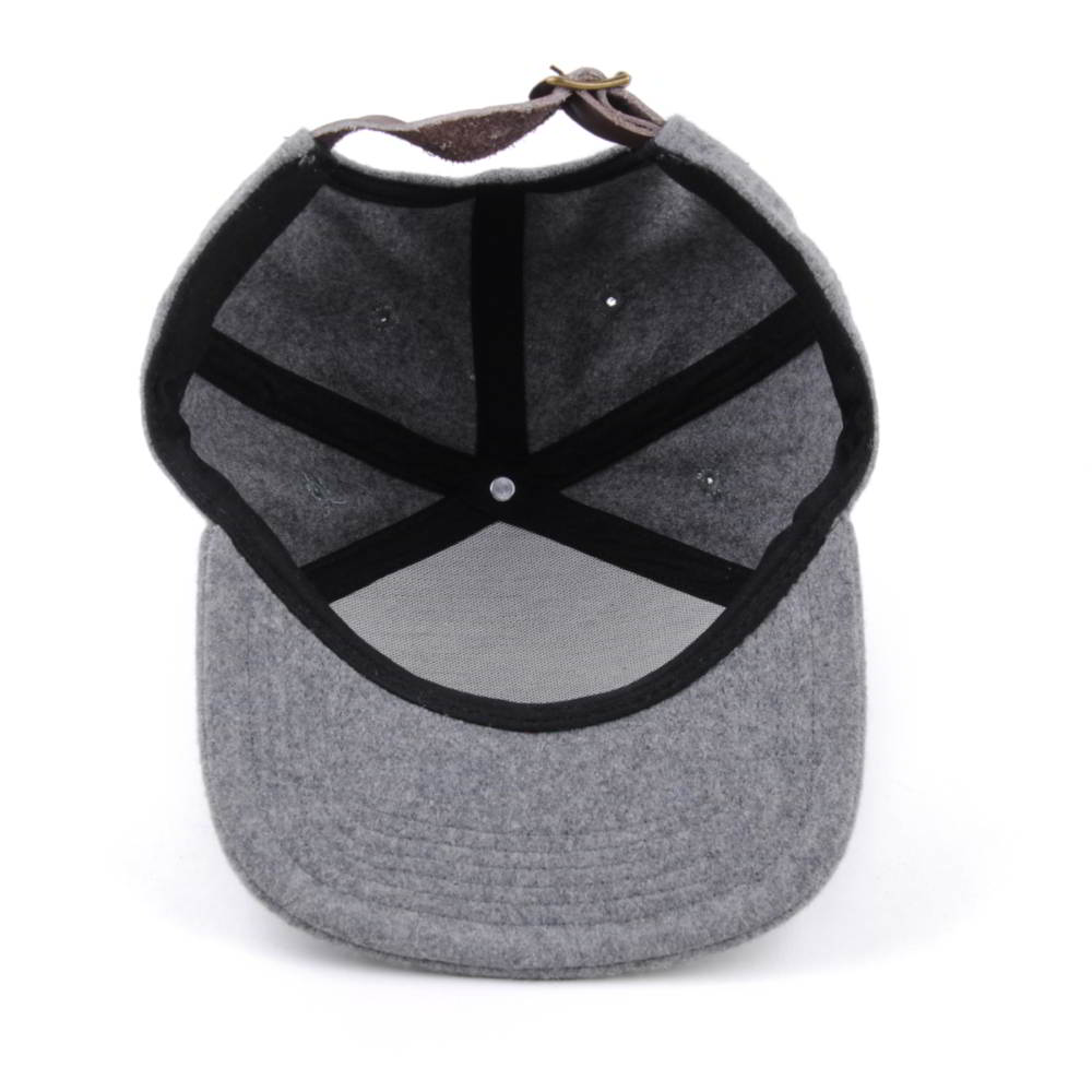 special 6 panels metal wool gray snapback hats