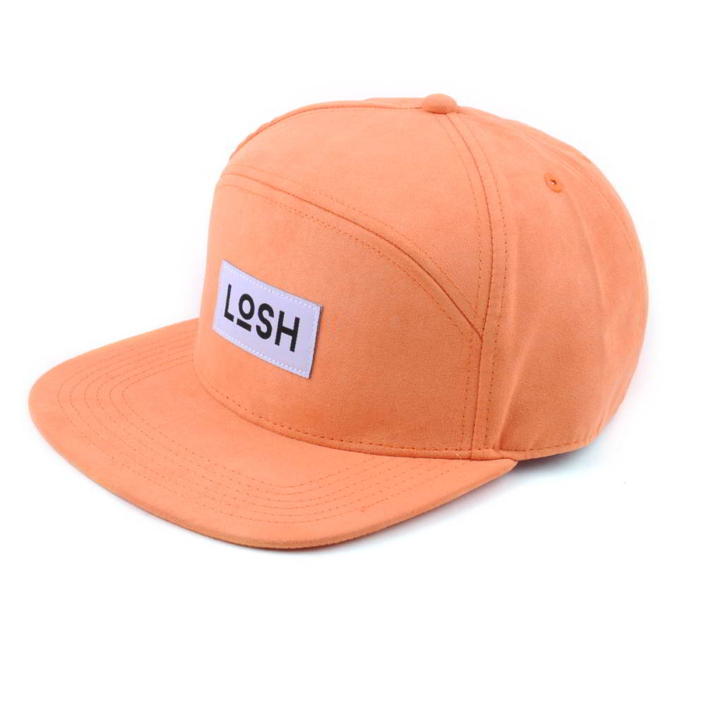 special 6 panels plain logo suede snapback hats