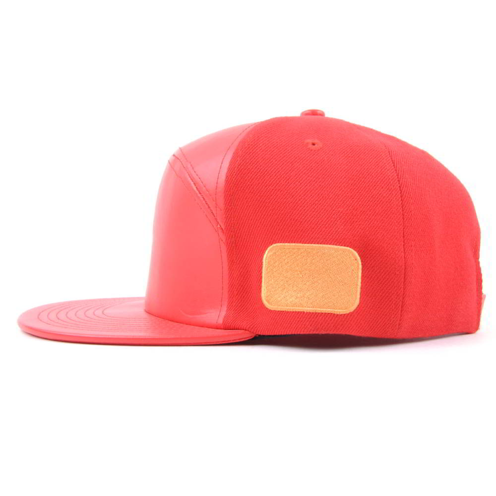 special 6 panels printing logo leather snapback hats
