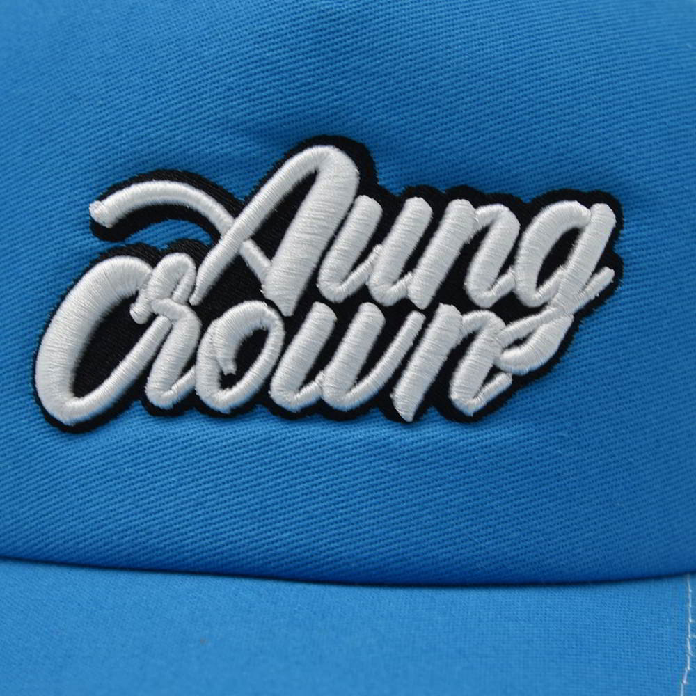 5 panels 3d aungcrown embroidery trucker mesh caps
