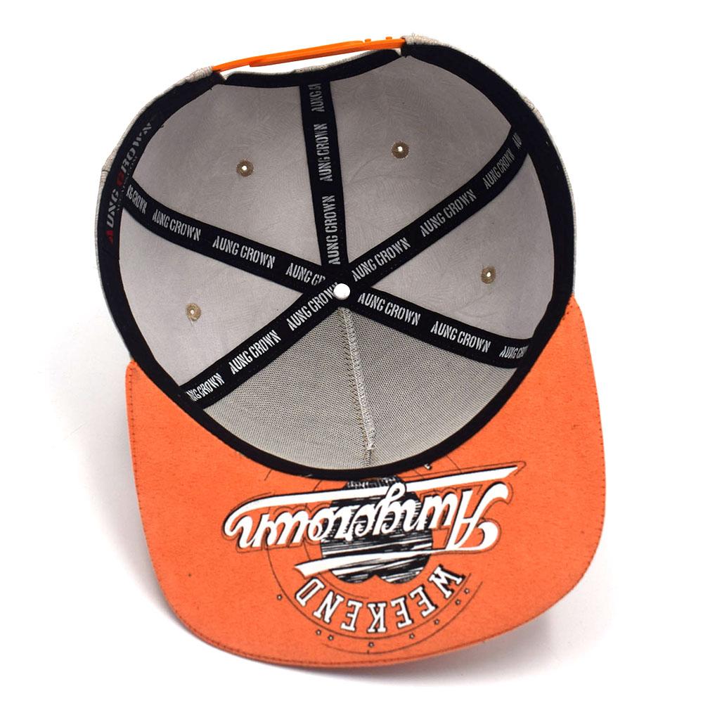5 panels plain aungcrown logo suede brim snapback hats