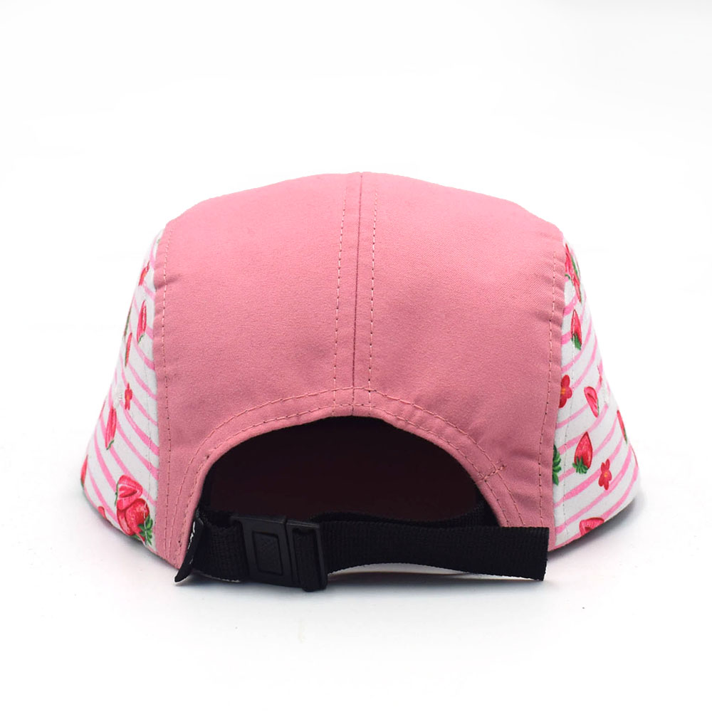 5 panels snapback suede embroidery logo caps