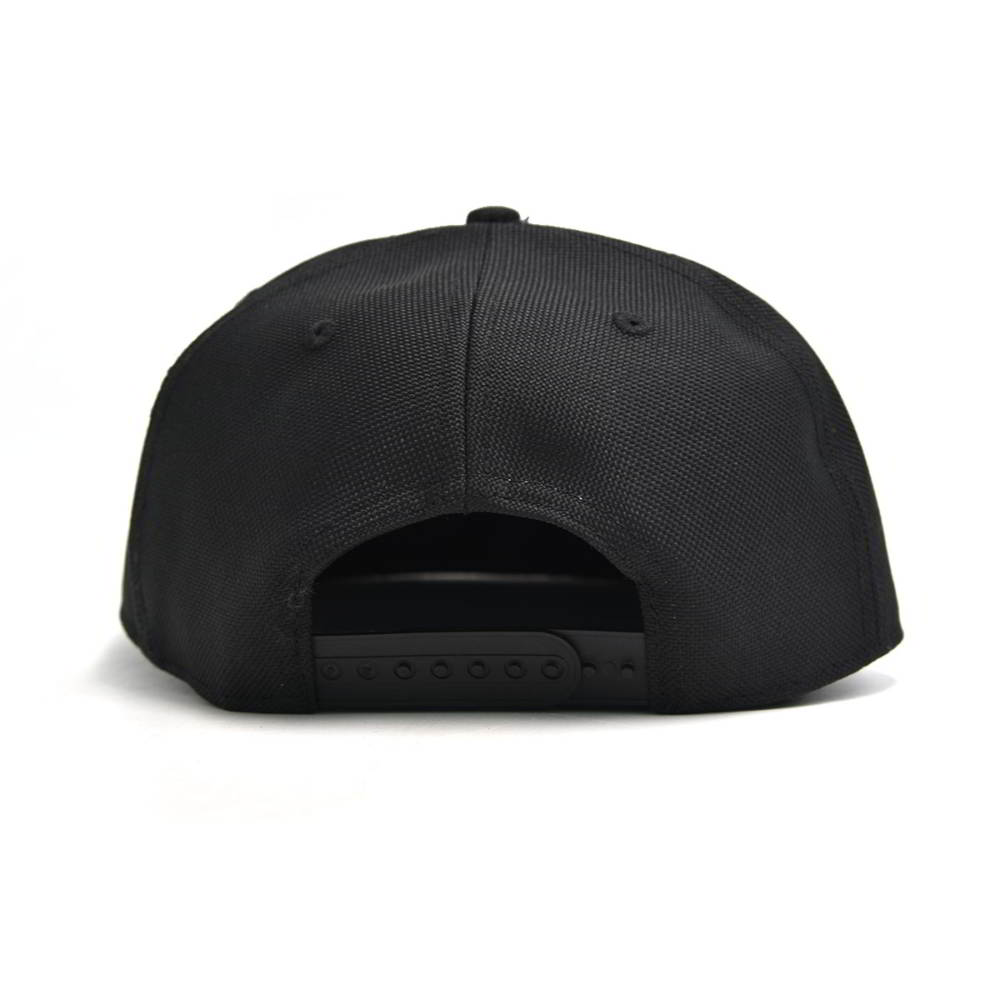 aungcrown embroidery logo black snapback caps custom
