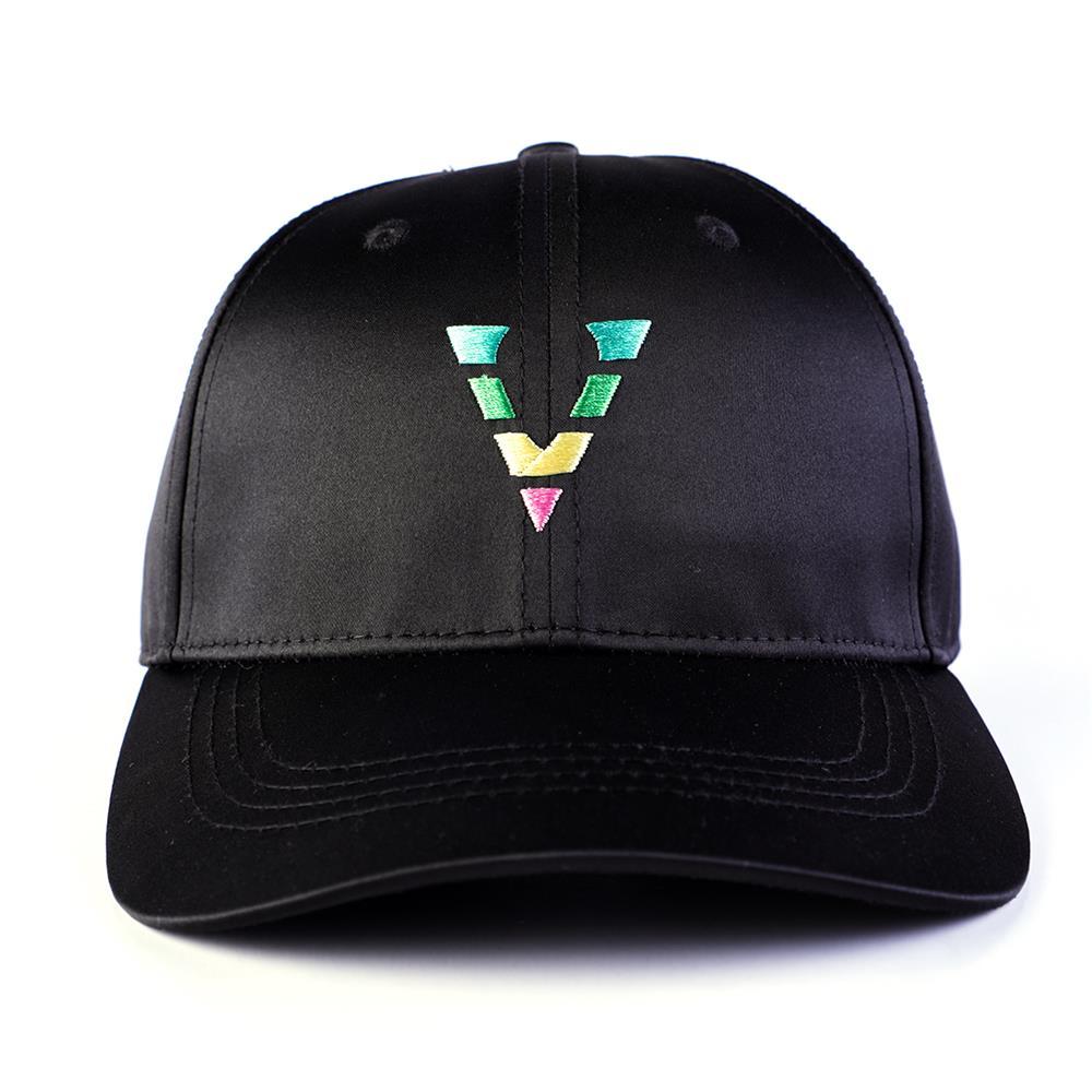 plain logo black 6 panels baseball caps