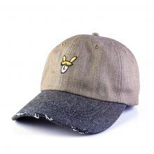plain vfa embroidery logo distressed sports denim baseball caps