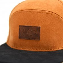 special 6 panels leather patch suede snapback hats