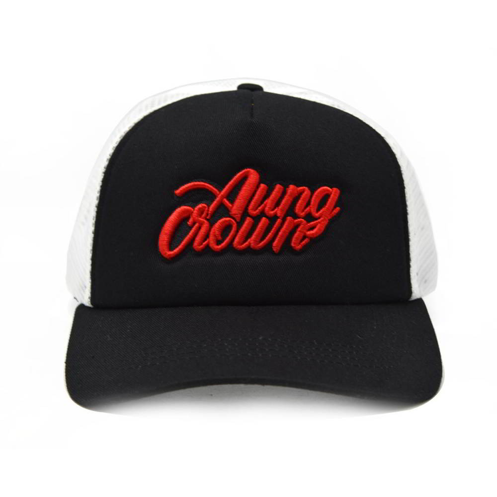 sports aungcrown logo trucker caps mesh hats