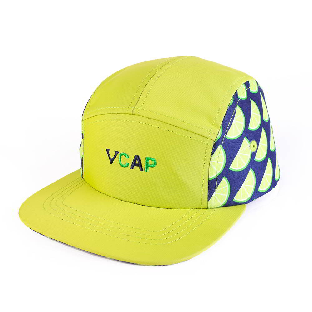 vfa embroidery logo printing 5 panels caps