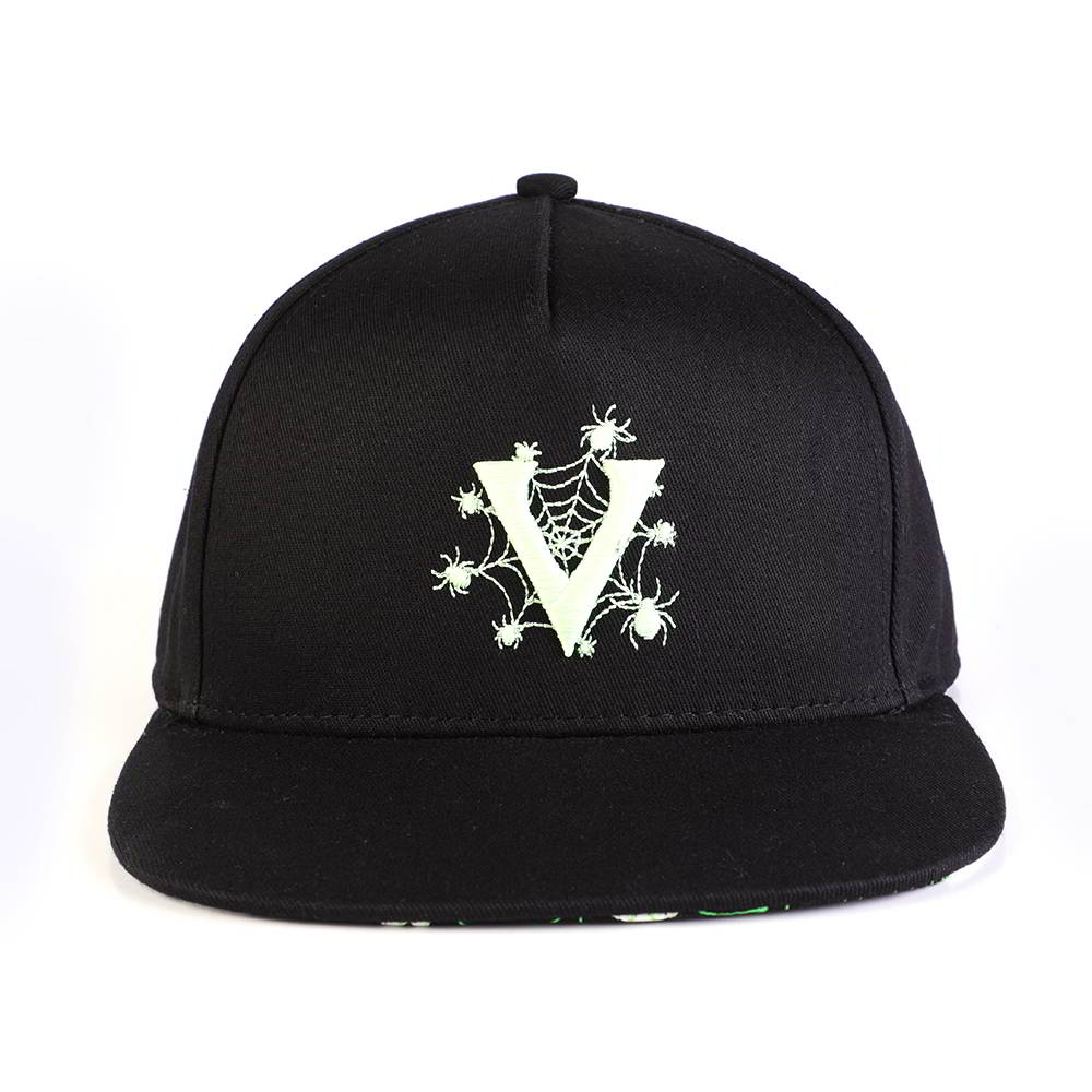 vfacap embroidery logo black 5 panels snapback hats
