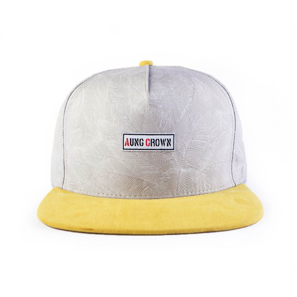 5 panels under brim printing aungcrown logo snapback hats