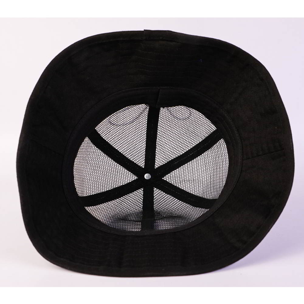 adjustable black aungcrown mesh bucket hats