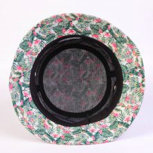 aungcrown embroidery flower printing summer bucket hats