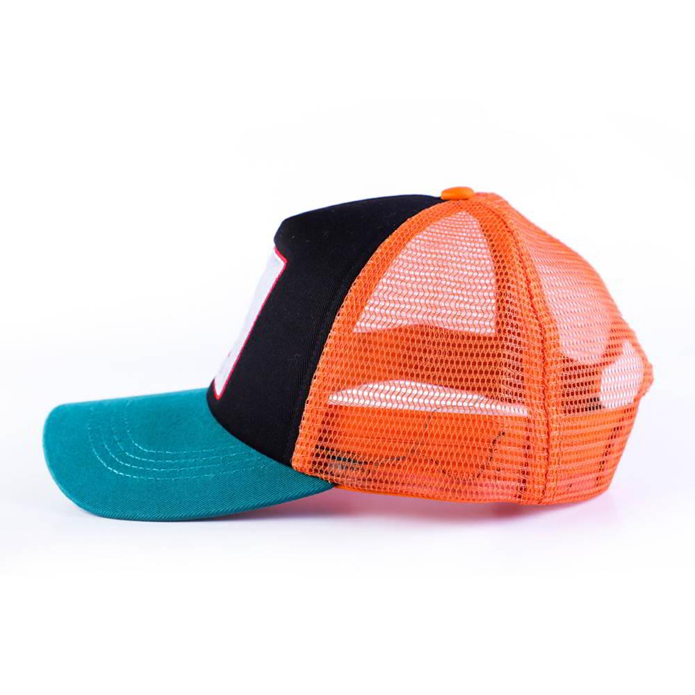two color design logo 5 panels baseball trucker hats