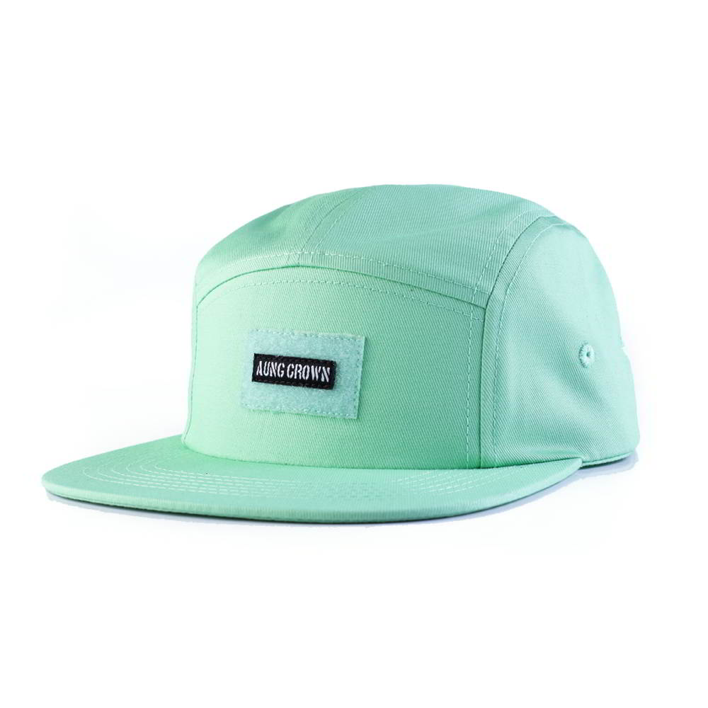 flat brim snapback cotton aungcrown 5 panels caps