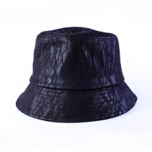 high quality design logo black bucket hats