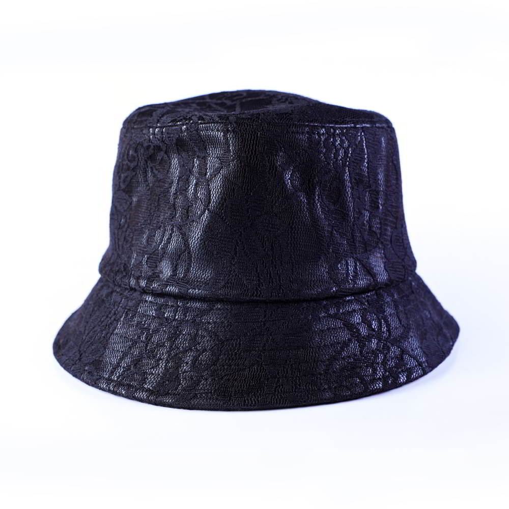 high quality design logo black bucket hats