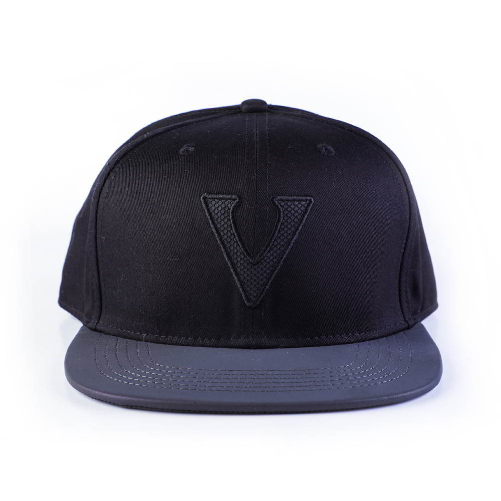 leather brim vfa letters logo snapback hats