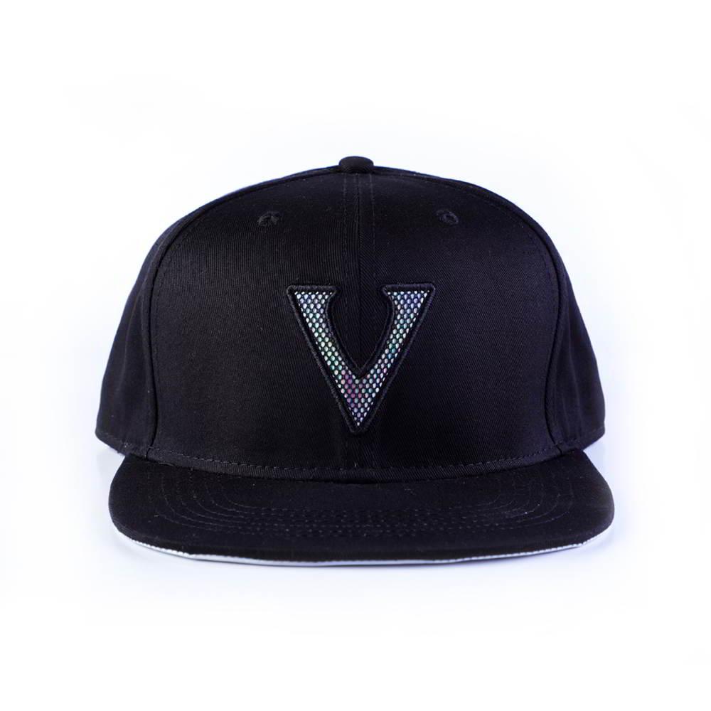 letters logo black 6 panels snapback hats