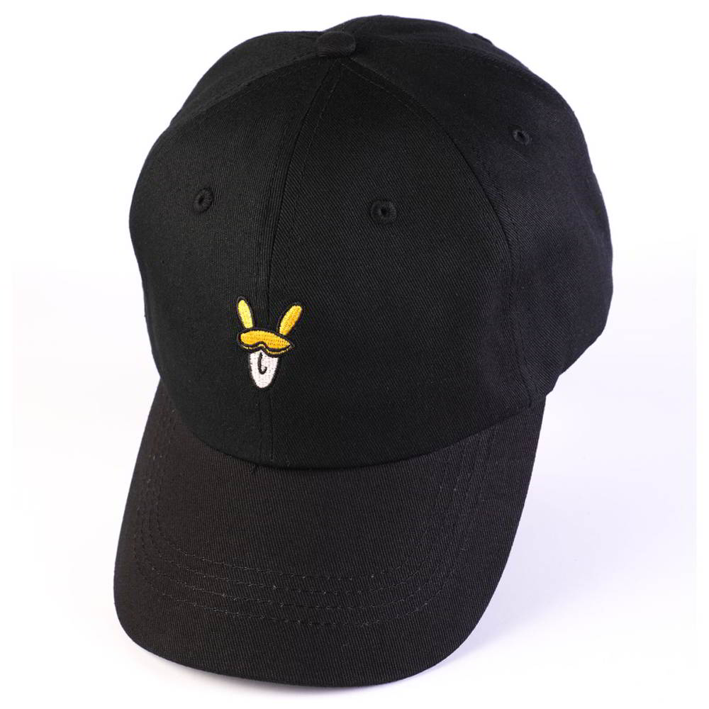 plain embroidery logo black cotton sports baseball hats