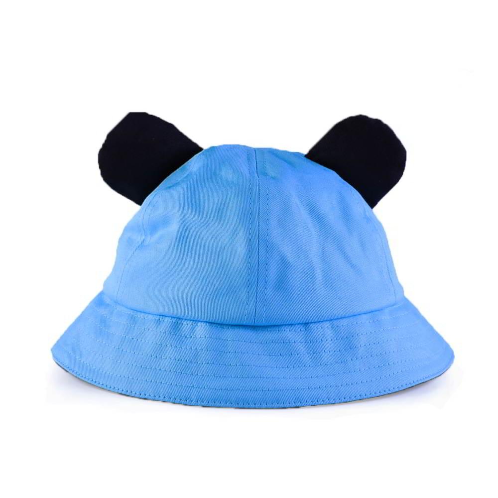 plain no logo cotton children bucket hats
