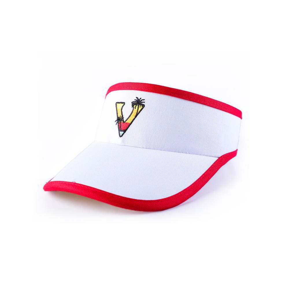 vfacaps logo sports white sun visors caps