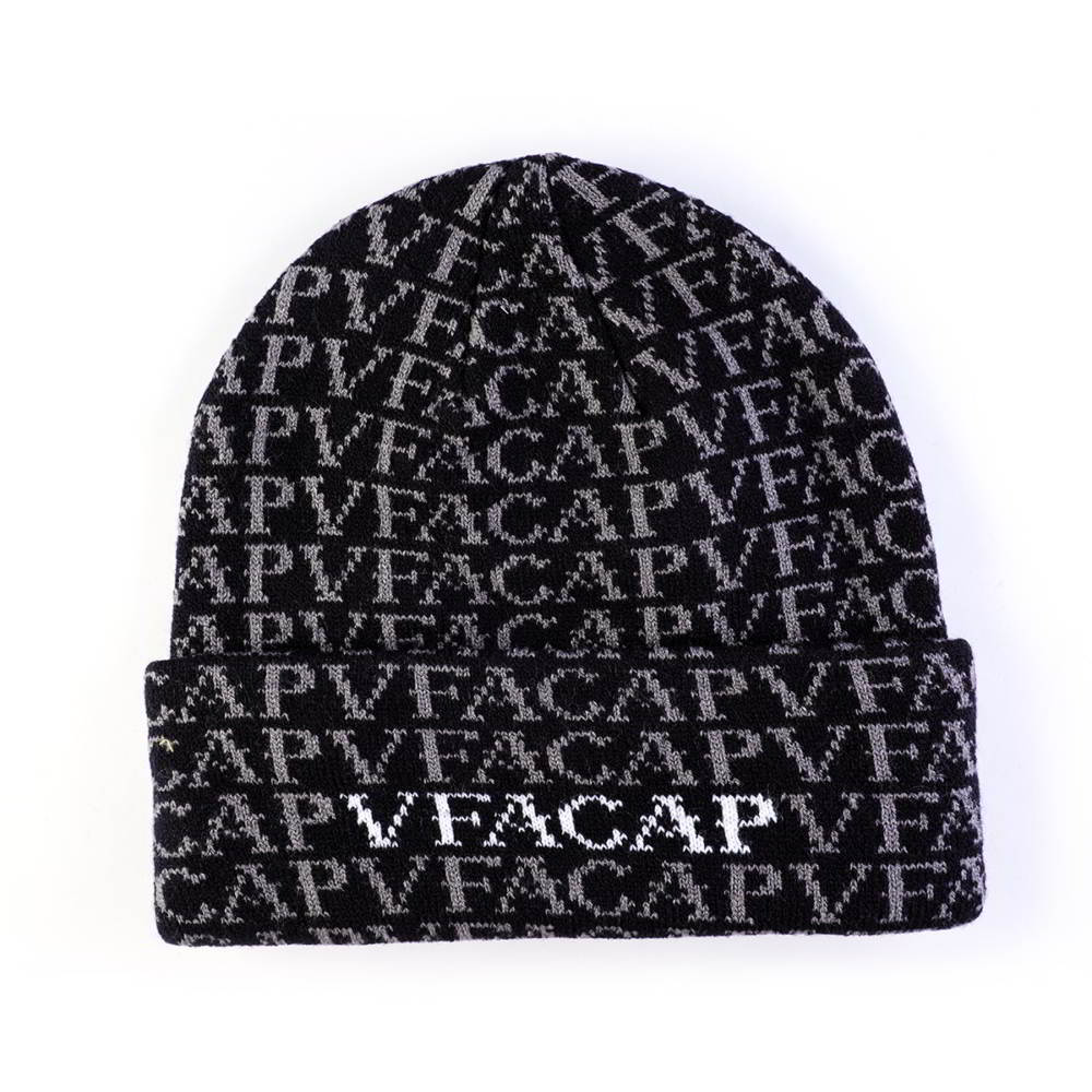jacquard vfa logo plain winter caps beanies