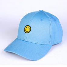 plain embroidery blue cotton baseball caps