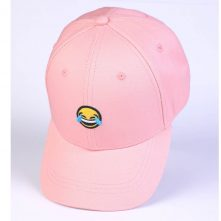 plain embroidery logo pink cotton sports baseball hats