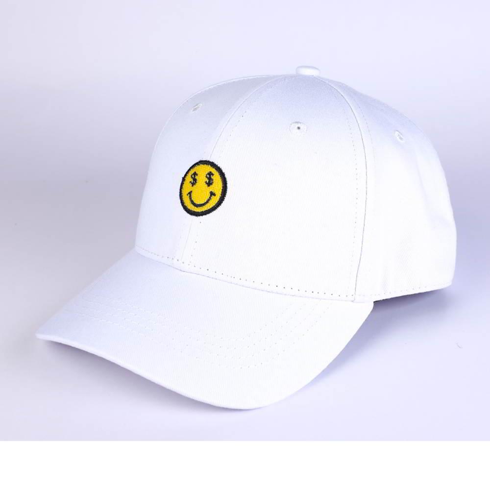 plain embroidery logo white cotton baseball hats