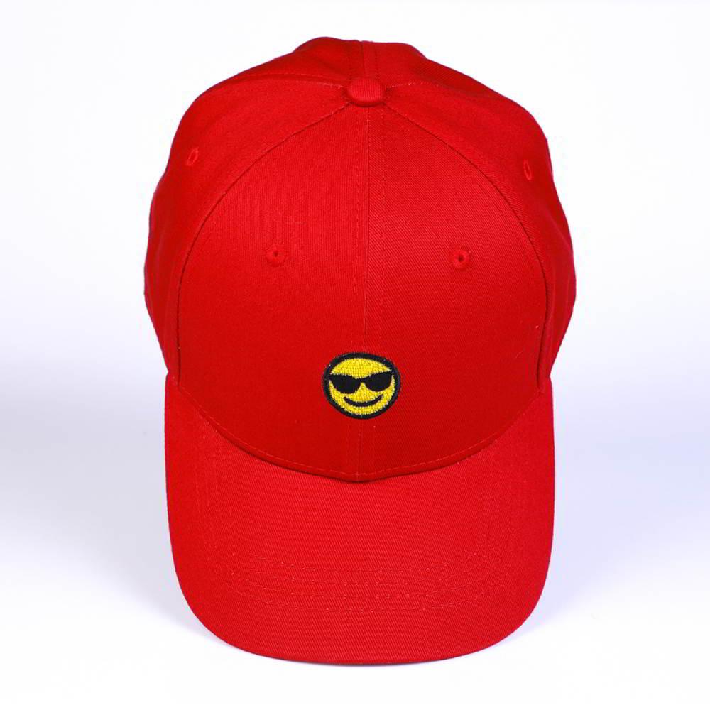 plain logo red cotton sports baseball caps design logo