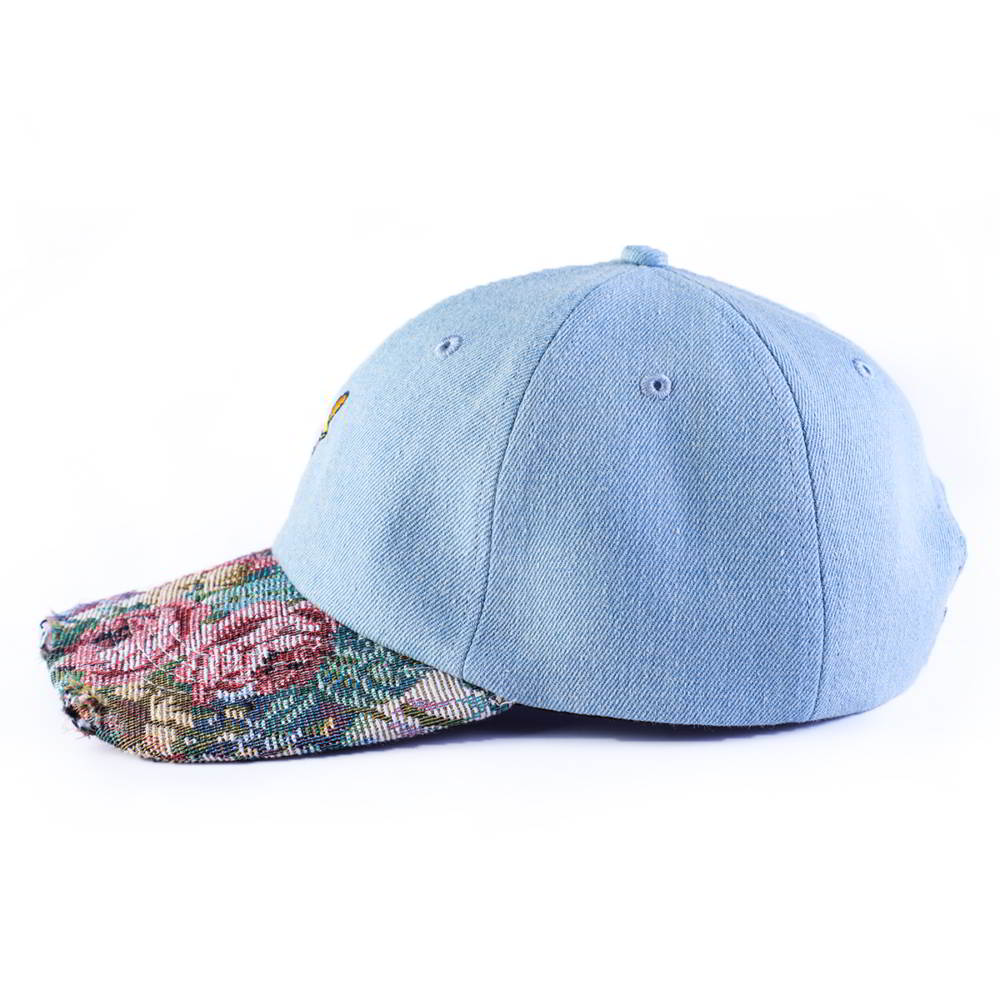 plain vfa embroidery printing brim denim baseball hats
