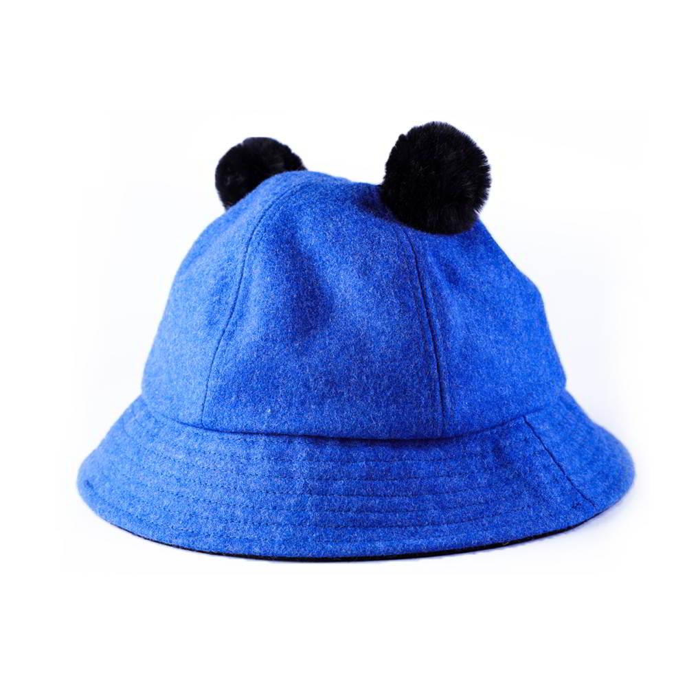 winter melton wool blank children cute bucket hats