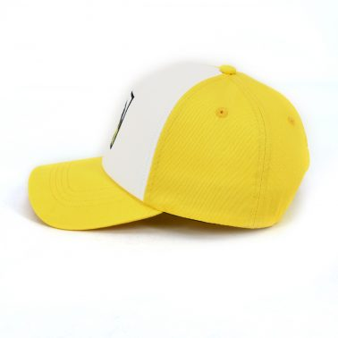 Simple and clear cartoon pattern embroidery patch dad hat baseball cap for kids bright yellow