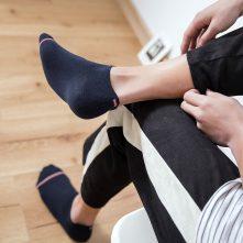Black men's low cut Casual athletic sport socks-1