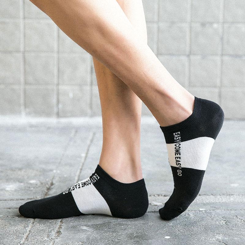 Black men low cut athletic sport socks-2
