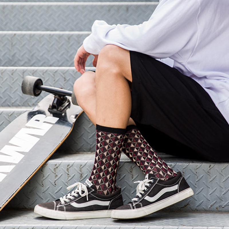 Classy cotton patterned argyle Socks for men-2