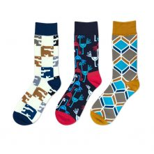 Men's simple style printed pattern socks breathable