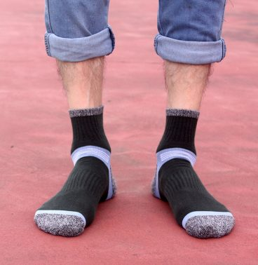 Thick Cushion Low Cut Ankle Sport Socks for Men-2